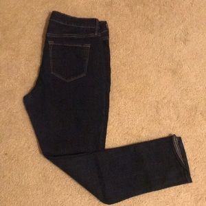 Old navy dark denim straight leg jeans